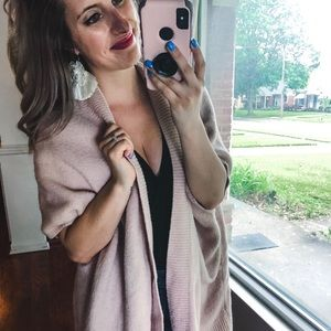 GAP Pink Sleeveless Oversized Cardigan XS/S